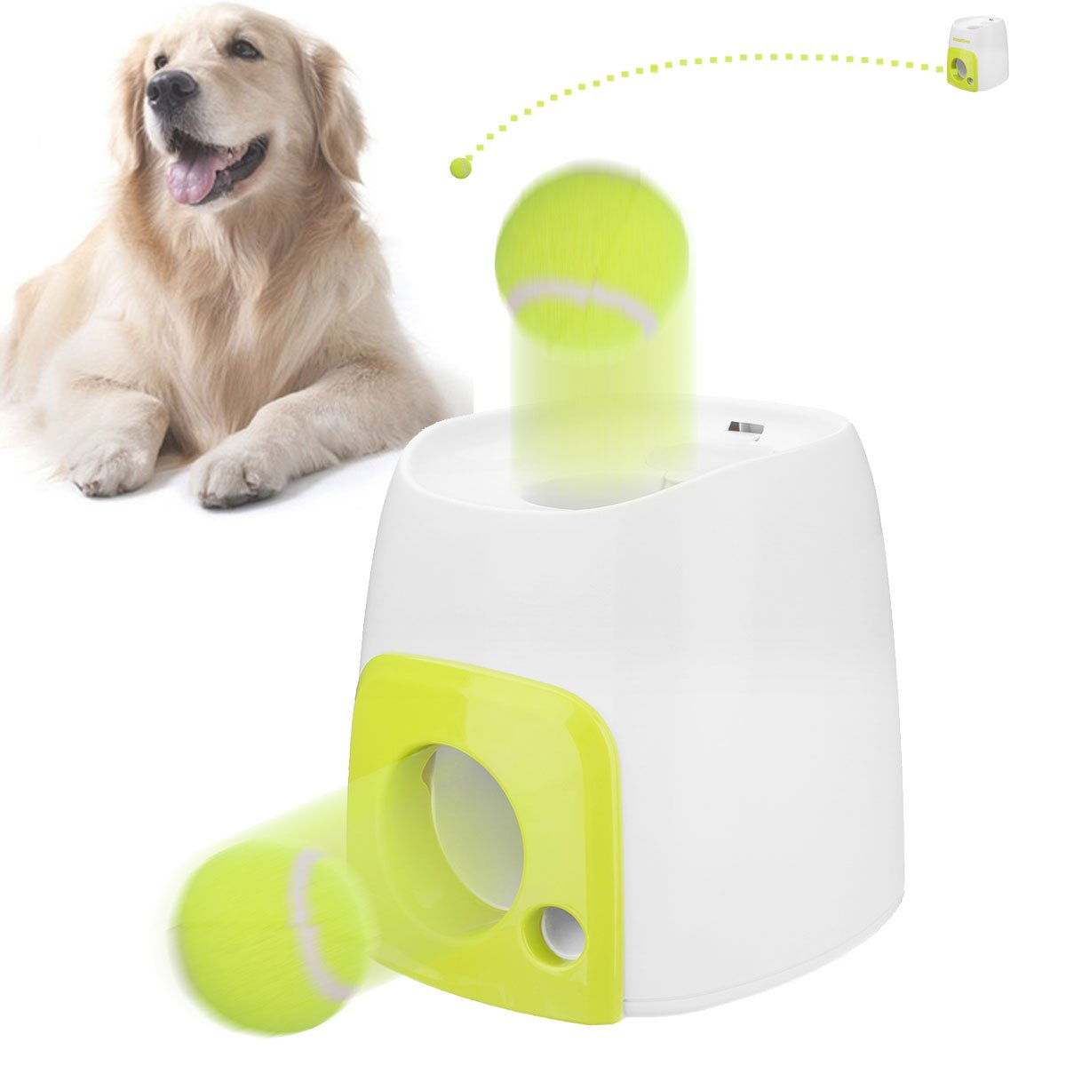 Includes 2 Balls Hyper Pet Toy Throw-n-go Ball Launcher for Dog