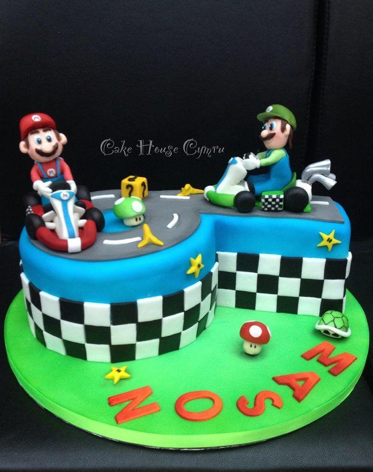 Fantastic 6Th Birthday Cake Mario Luigi Cake With Images Mario Funny Birthday Cards Online Unhofree Goldxyz