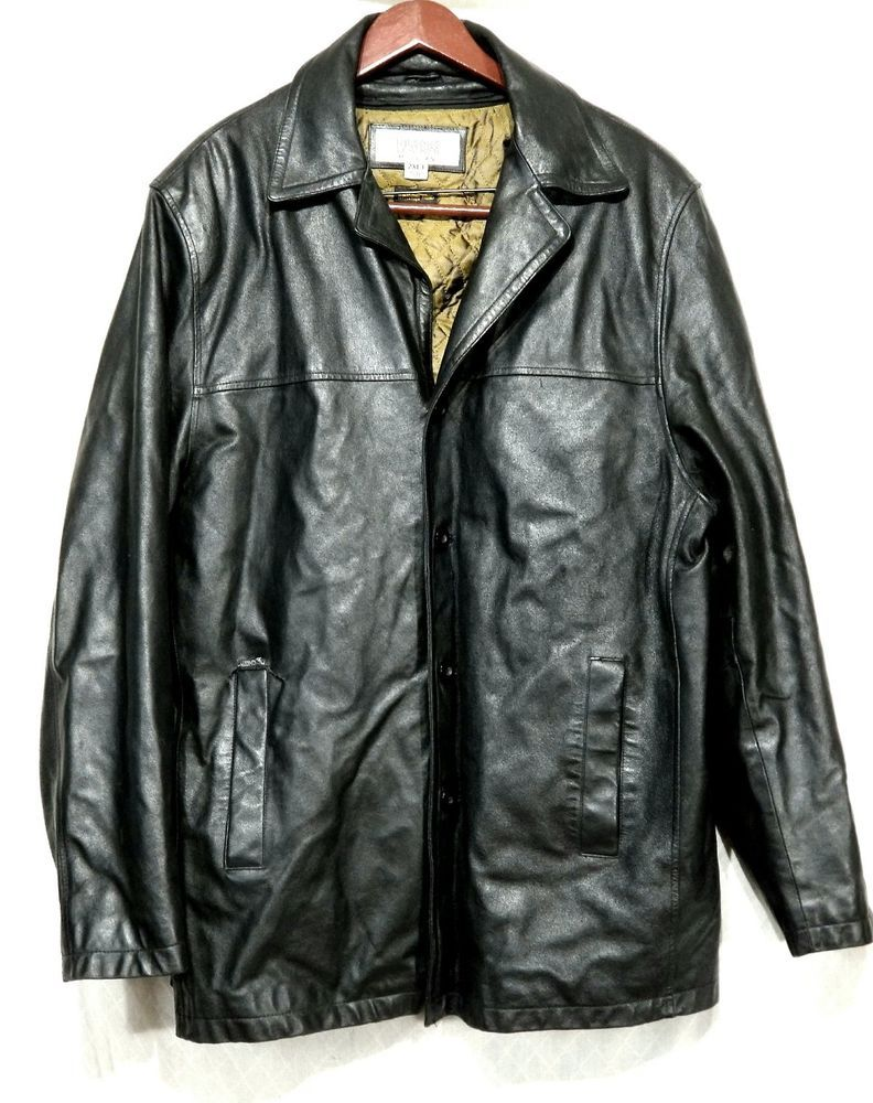 Wilson's Leather Jacket M Julian 2XLT Black Thinsulate