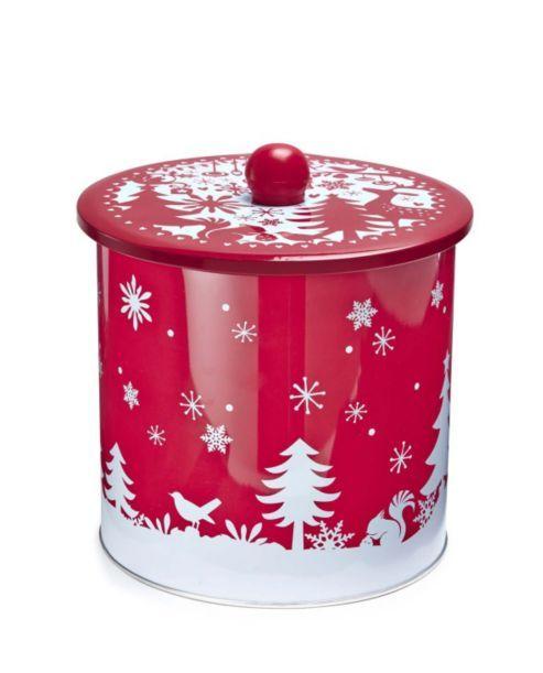 Cooksmart Eat Drink Be Merry Biscuit Barrel Christmas Jars Tin Containers Kitchen Jars Storage