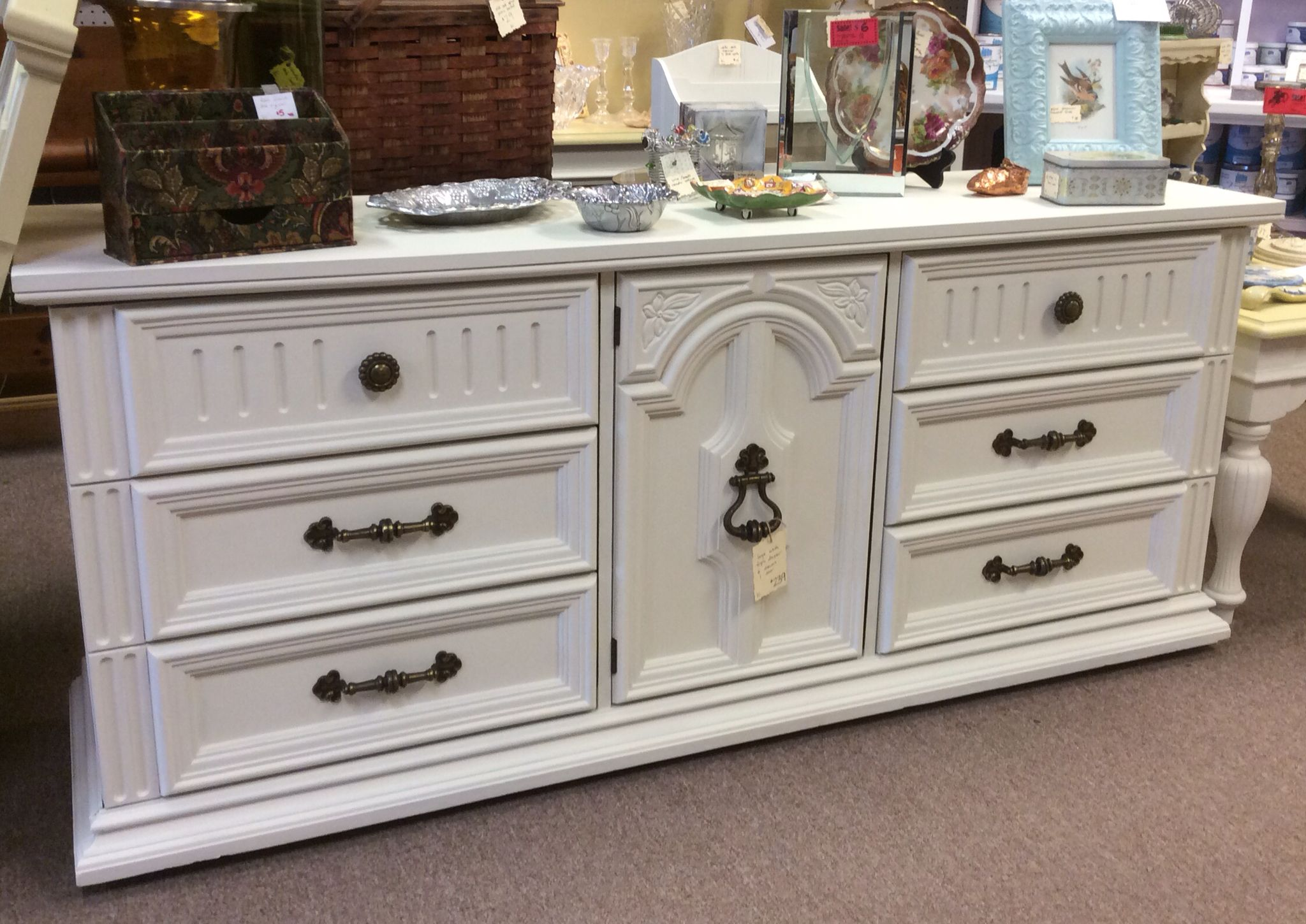 Great chest of drawers painted in Farmhouse Paint Creamy Linen