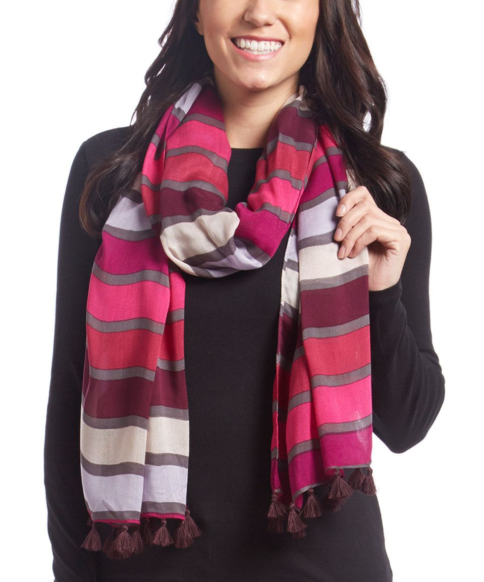 Love this Pink & Purple Stripe Scarf by The Limited on #zulily! #zulilyfinds