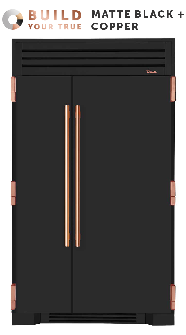 Matte black copper inspired by chefs refined for the for Matte black kitchen doors