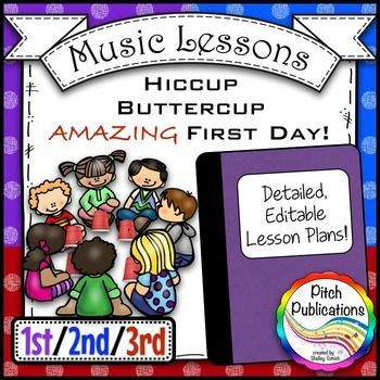 Back To School Music Lesson Plan Hiccup Buttercup For St Nd