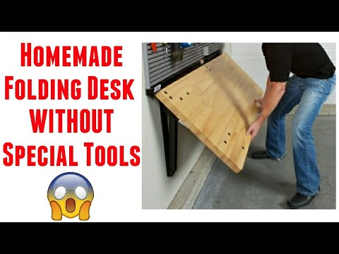 How To Make Folding Table At Home Building A Wall Mounted Desk Diy You - How To Make A Small Folding Table