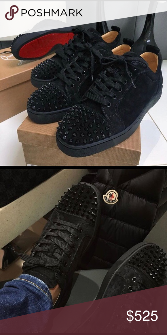 check out 974f1 470b0 ⚫️Christian Louboutin Junior Spikes Low Black ...