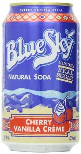 blue sky cherry vanilla cream soda 12 ounce cans pack of