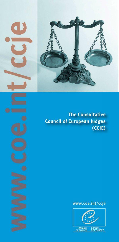 Consultative Council of European Judges Justice and Legal - judicial council form complaint