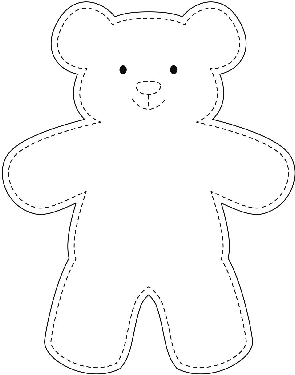 Teddy bear stencil idea for baby quilt #bears