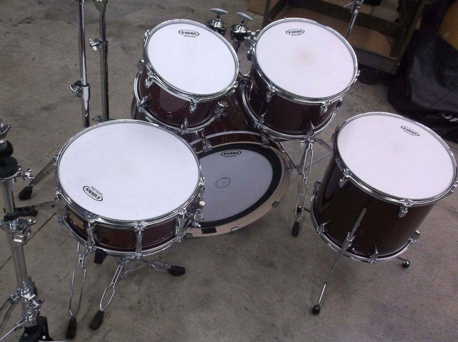 Yamaha Stage Custom Birch 5 Piece Drum Set 20 10 12 14 14 Plus