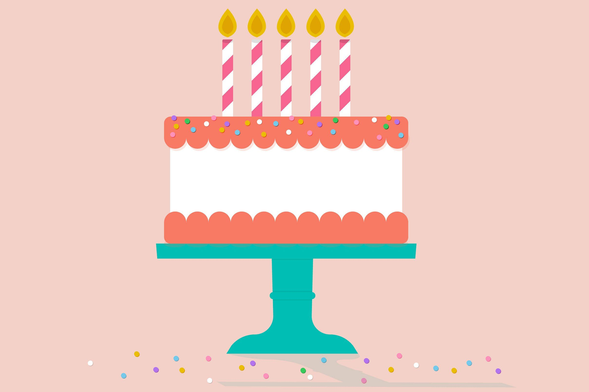 Superb Vector Birthday Cake With Images Cake Illustration Birthday Funny Birthday Cards Online Elaedamsfinfo