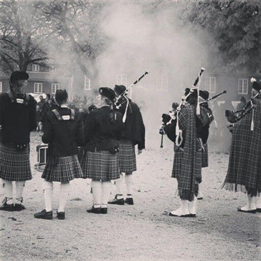 Copenhagen Caledonia Pipe Band deltog i slaget imellem DK og GB på kirketorvet - Kastellet 350 år i 2014