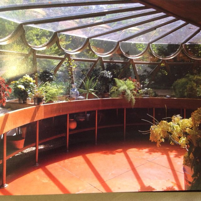 This Greenhouse Is Part Of A Frank Loyd Wright House