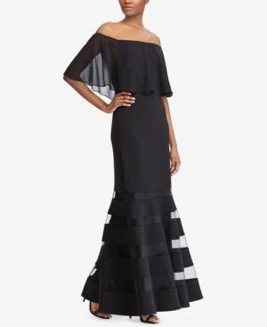 be9728f5 Lauren Ralph Lauren Off-The-Shoulder Fit & Flare Gown - Black 6 ...