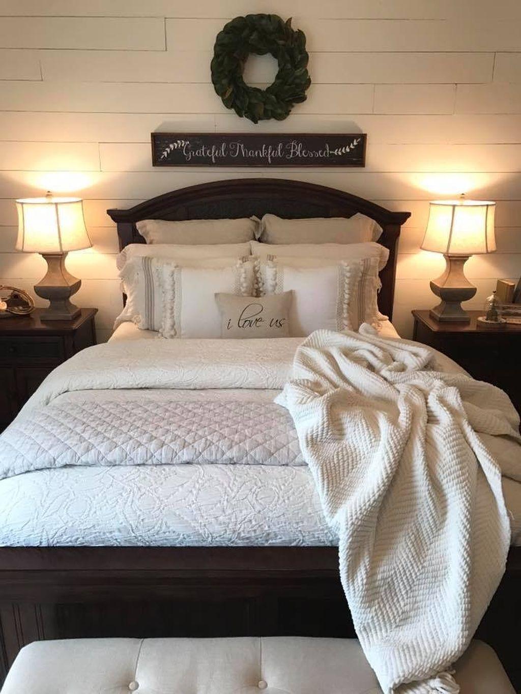 Rustic Romantic Bedroom Ideas: Romantic Rustic Farmhouse Master Bedroom Decorating Ideas