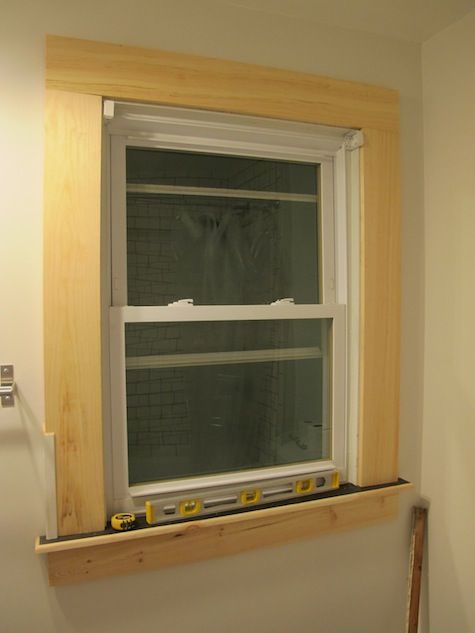 Window Trim Installed But Unpainted Design And Decor Pinterest Window Interior Window