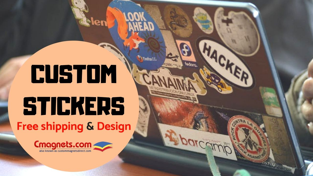 Stay in the minds of your customers with these attractive custom stickers and build your brand