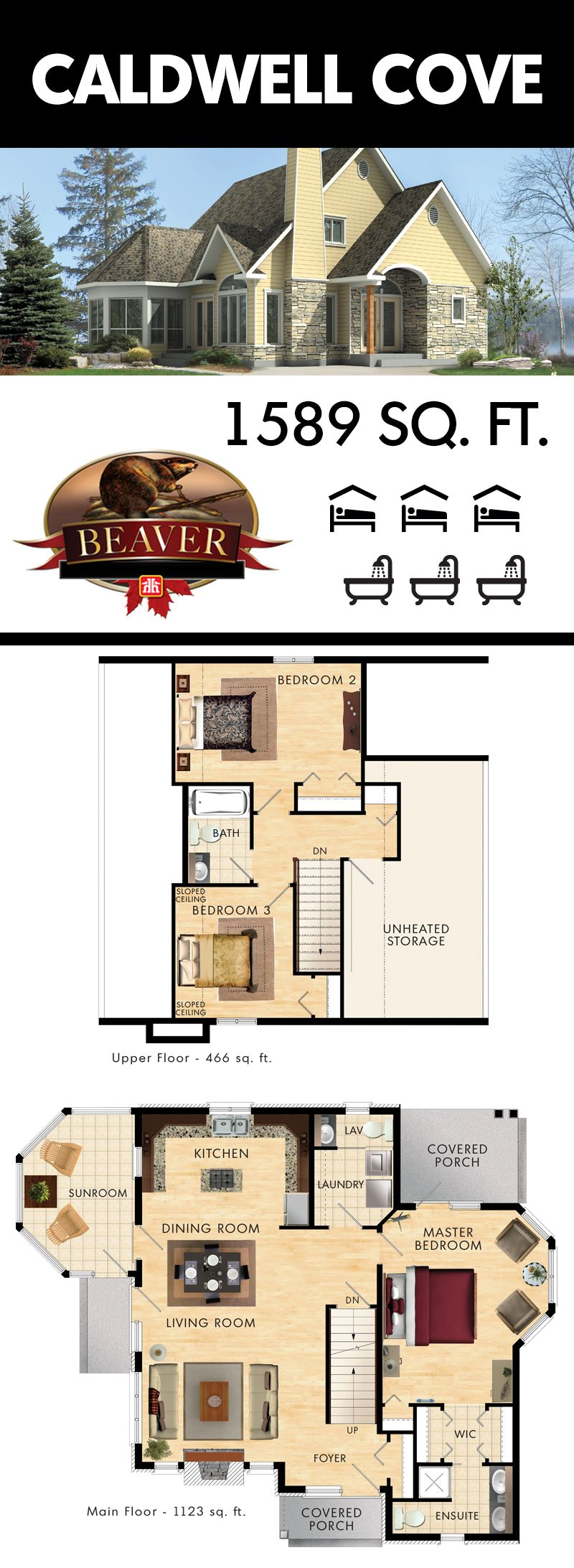 Caldwell Cove Beaver Homes And Cottages Dream House Plans House Blueprints