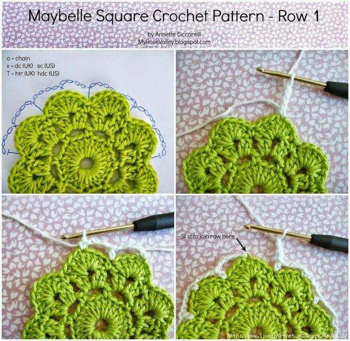 Crochet y dos agujas: Grannys paso a paso para principiantes | ropa ...