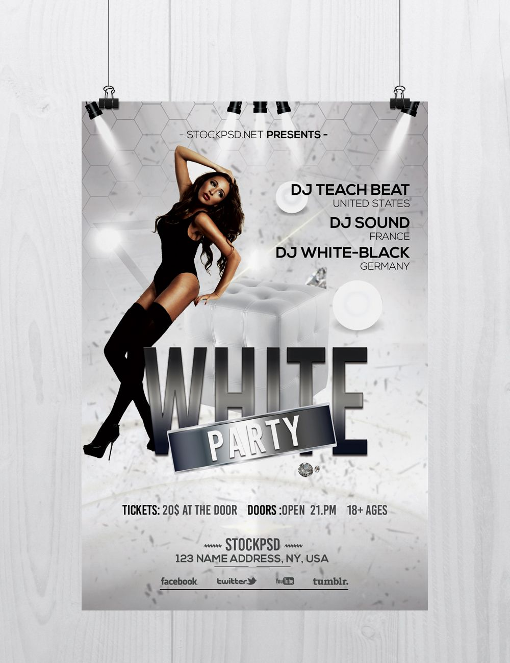 White Party Is A Free Elegant Psd Photoshop Flyer Template To