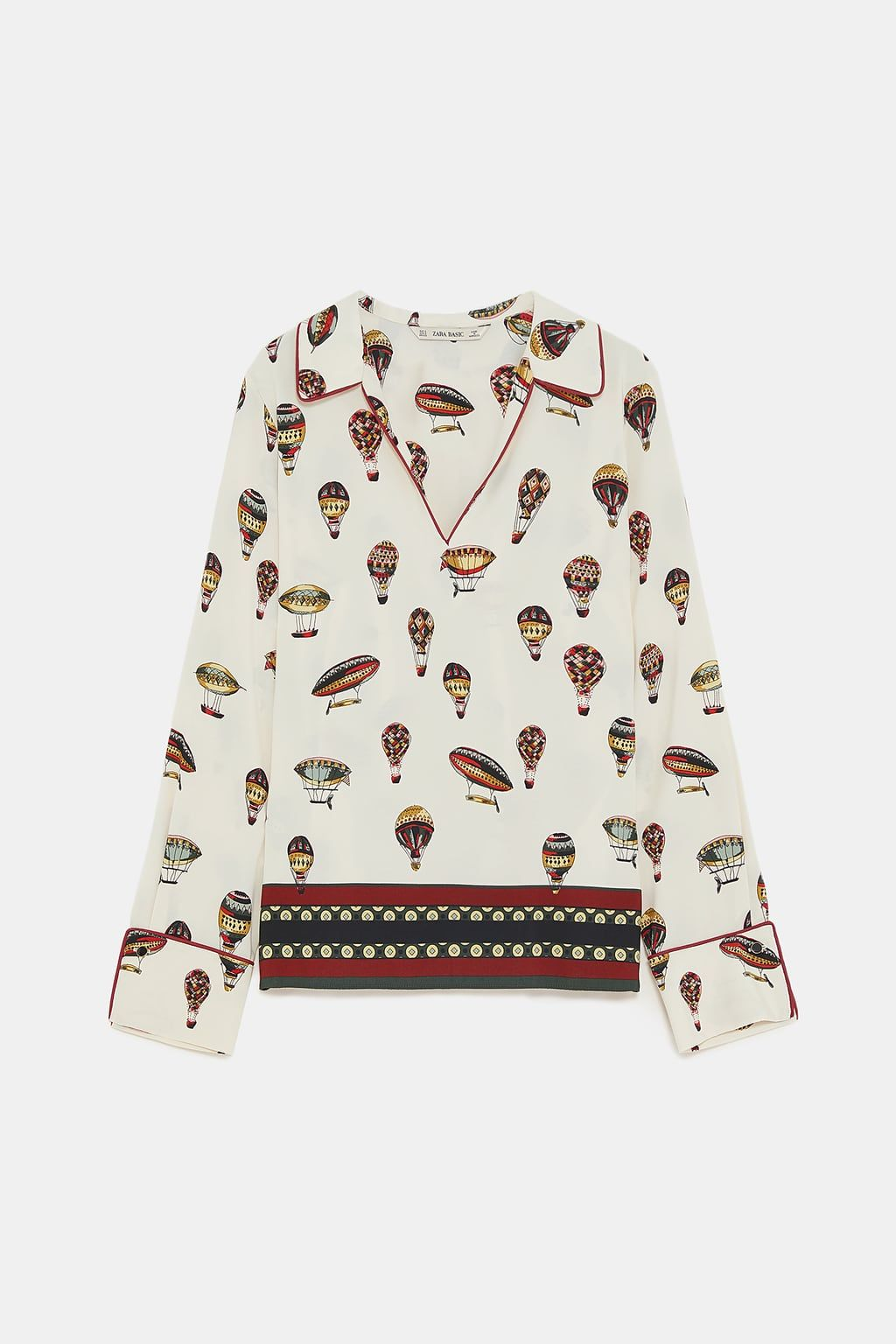 09cb5b5b54cdc6 HOT AIR BALLOON PRINT BLOUSE from Zara | F/W | Printed balloons ...