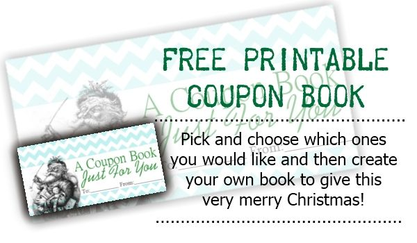 Free printable coupon book by Sweetly Scrapped Gift Ideas - printable coupon templates free