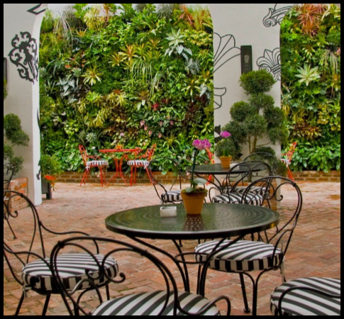 Commercial   Garden mirrors, Living green wall, Patio on Green Wall Patio id=42339