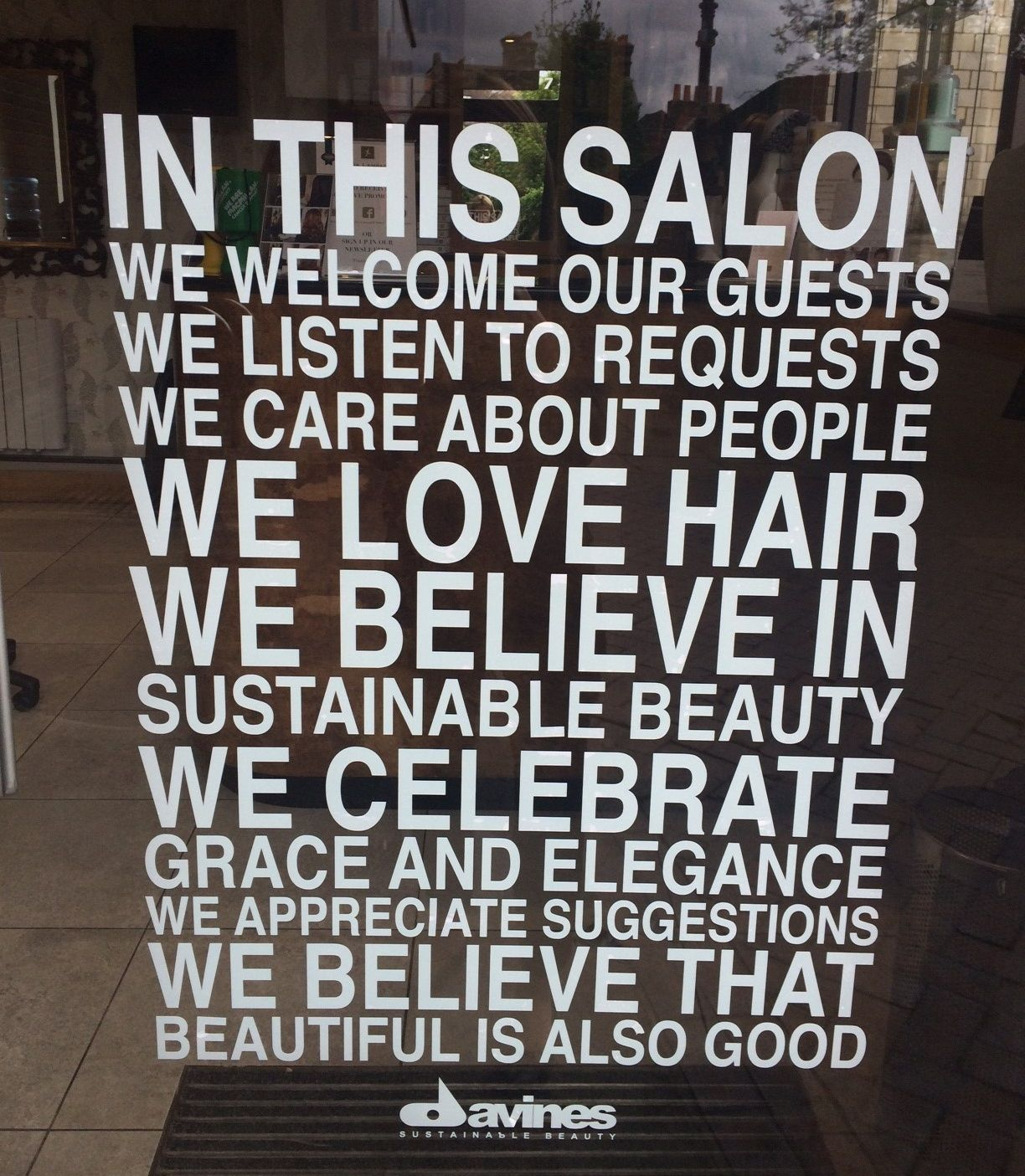 In this salon we love hair pinteres for Salon quotes and sayings