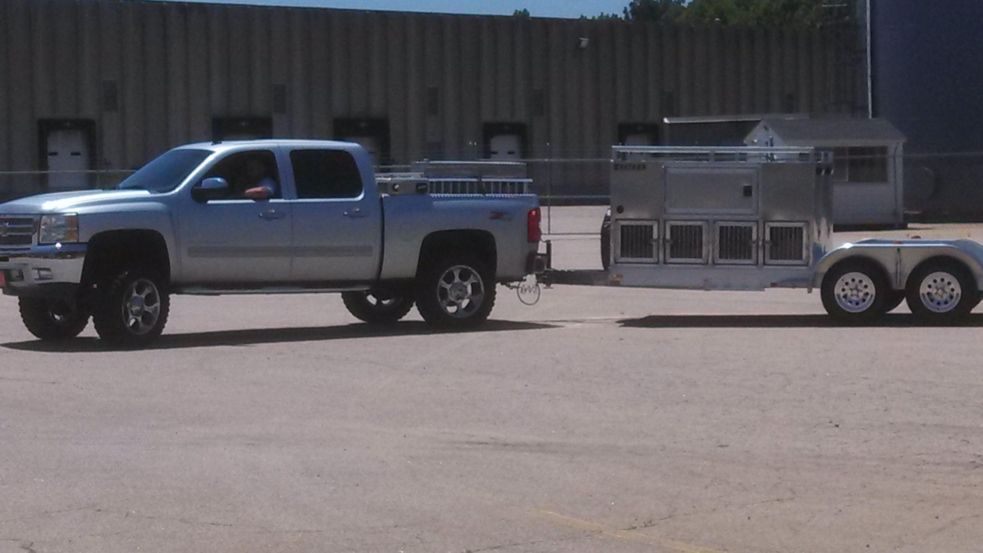 Dog Trailer hunting dog trailer with room for 4-wheeler on rear! | dog