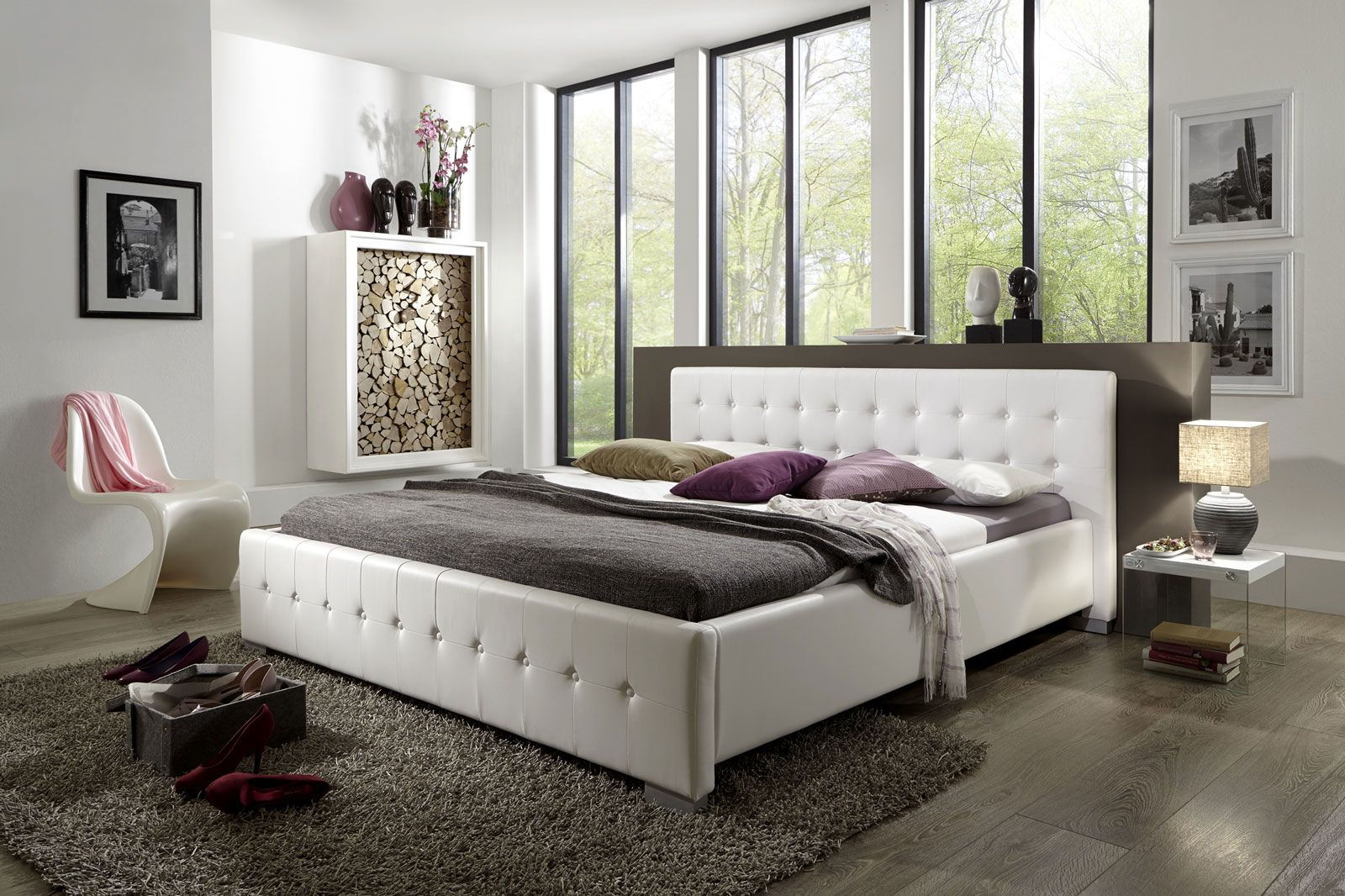 SAM® Polsterbett 180 x 200 cm weiß Haus deko, Bett