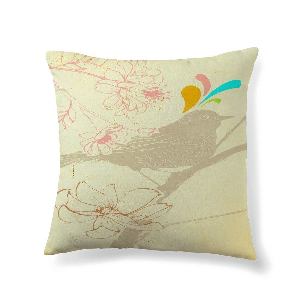 Little gray birdie throw pillow products pinterest throw
