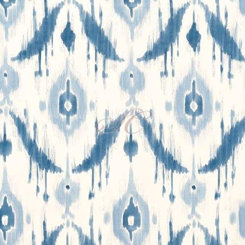 Thibaut Wallpaper Avalon Island Ikat T9169 Blue
