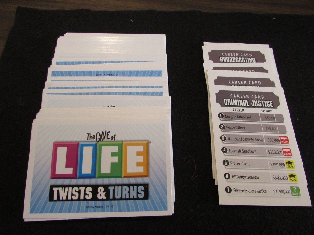2007 The Game Of Life Twists And Turns Set Of Life Cards