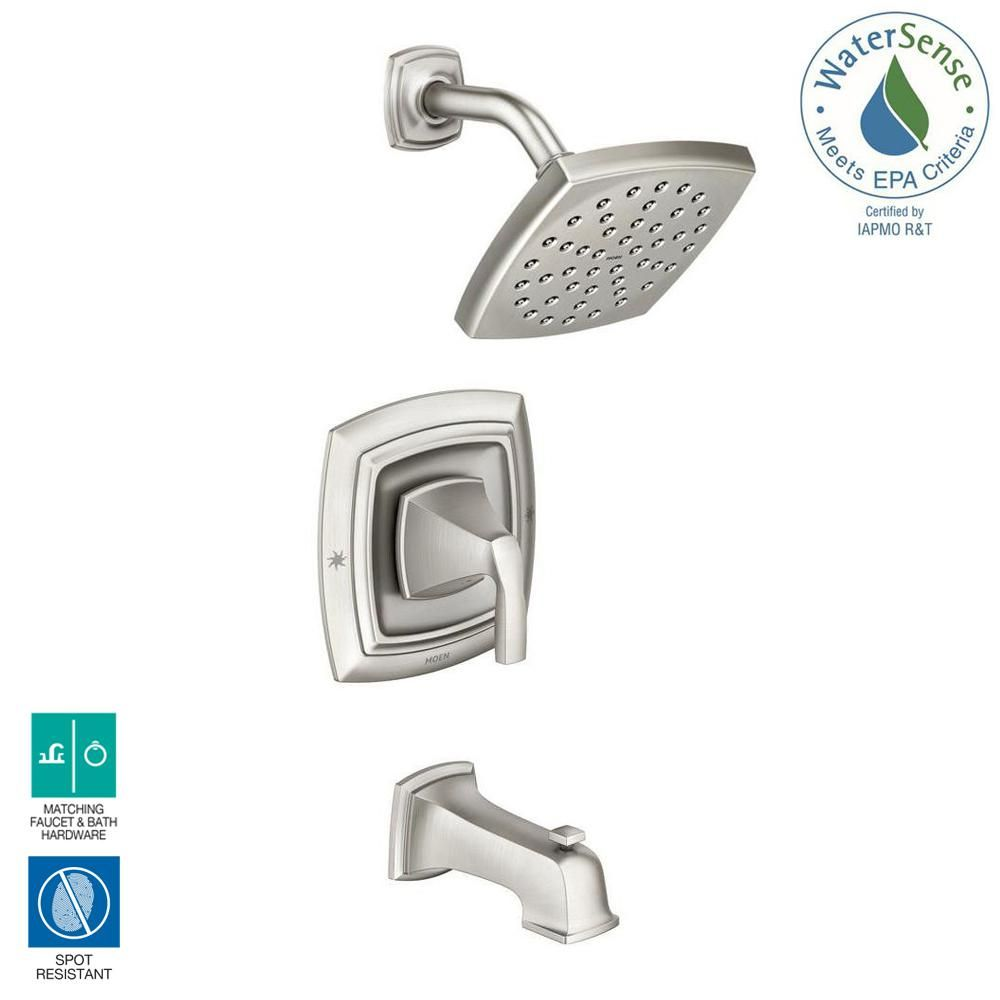 Moen Hensley Single Handle 1 Spray Tub And Shower Faucet In Spot
