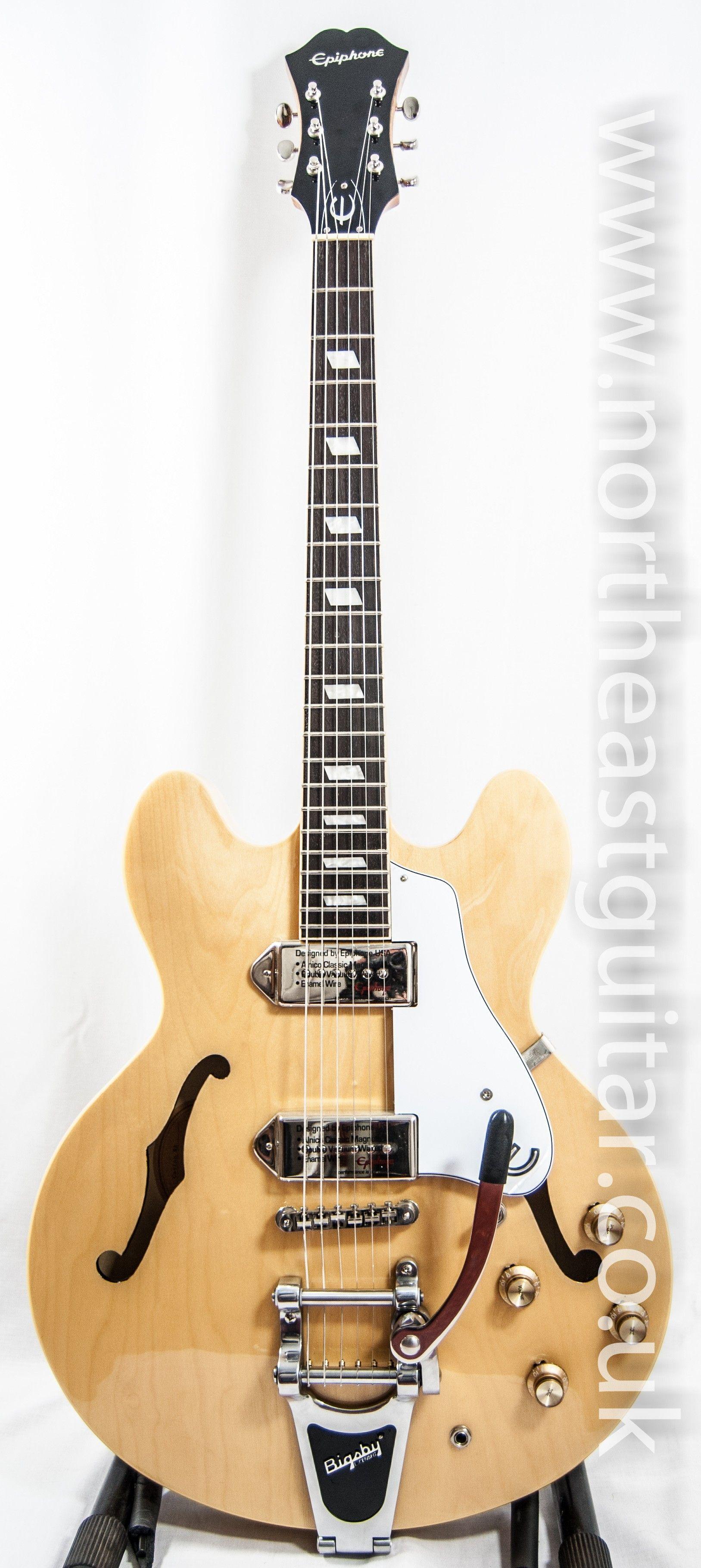 Epiphone Casino Bigsby Natural Epiphone Guitar Vintage Guitars