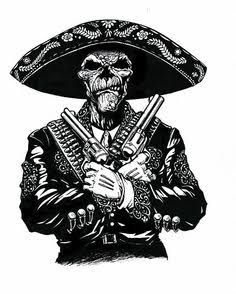 Image Result For Day Of The Dead Tattoo El Mariachi Designs Black And White Aztec Art Art Chicano Art