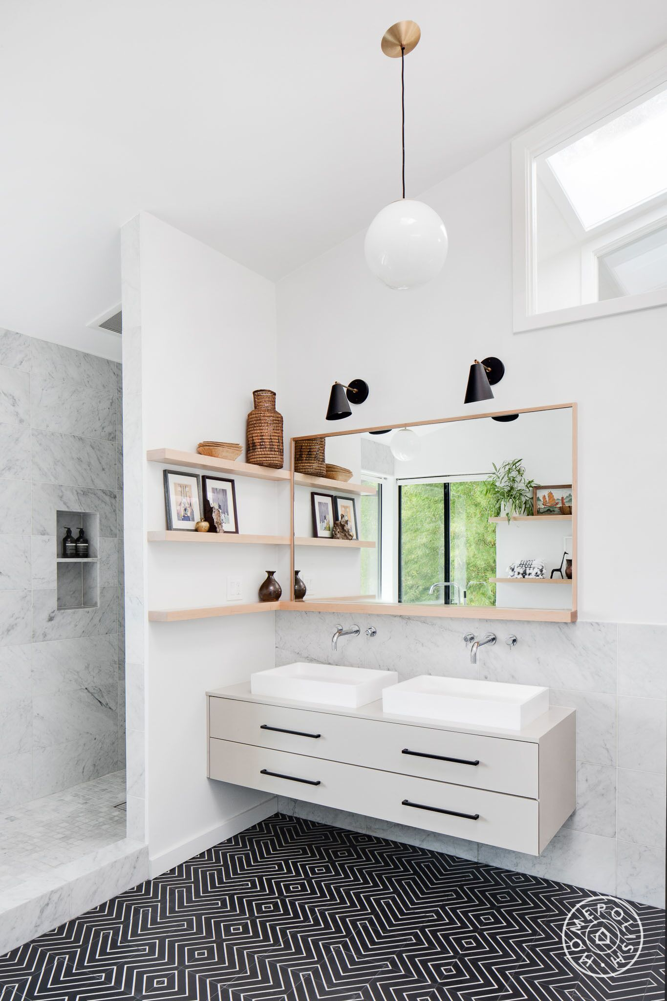 Before And After Three Bold Black And White Bathroom Renovations Homepolish Bathroom Renovations Bathroom Design Styles Home