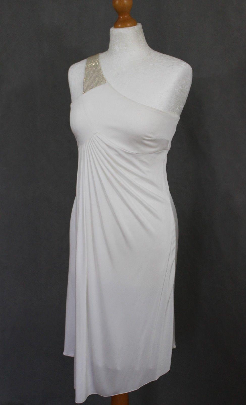 523f1165 52.35 | VERSUS from VERSACE Ladies Single Shoulder White DRESS - Size IT 42  -