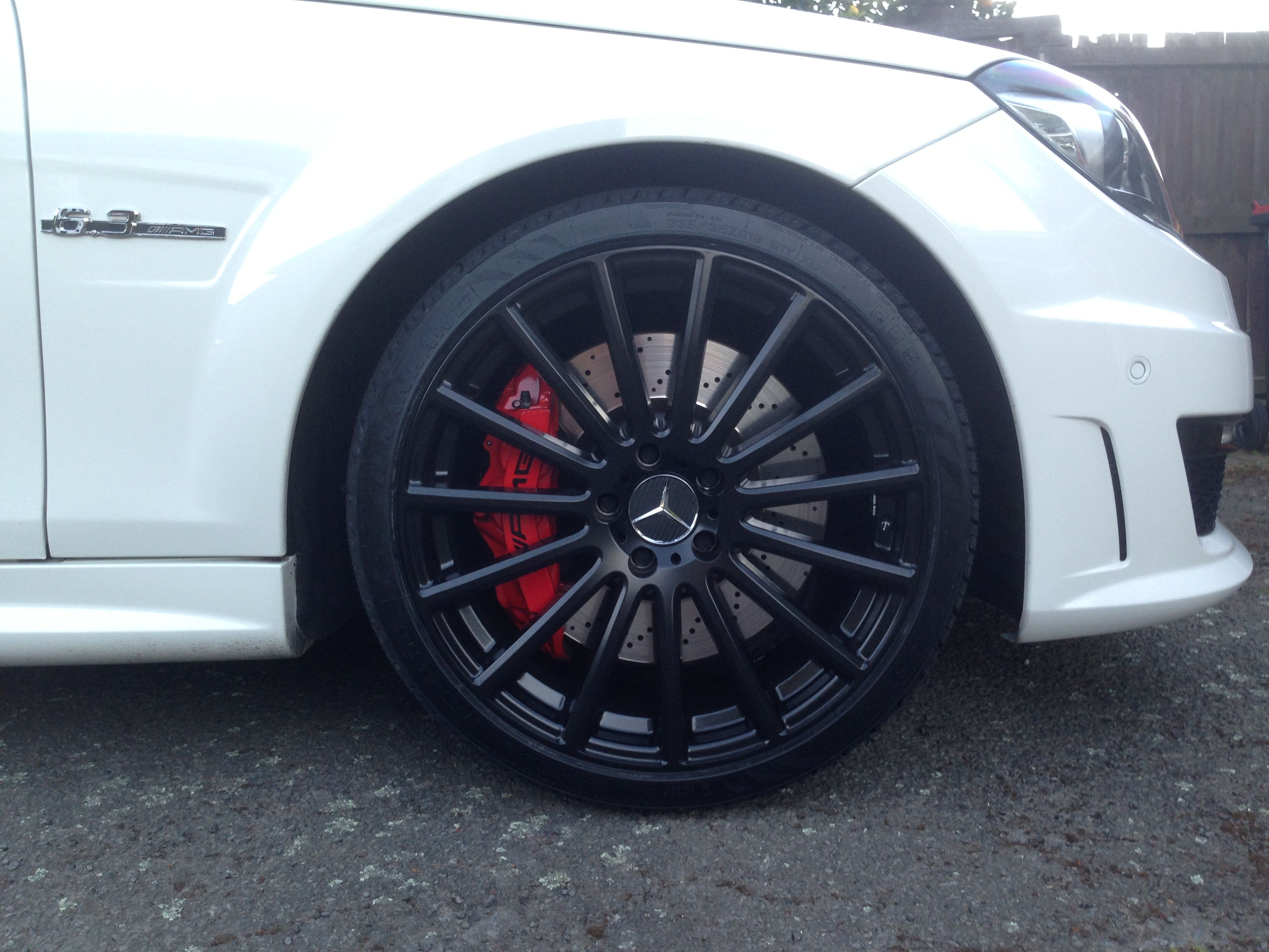 My Black Wheels With Red Amg Callipers Black Wheels