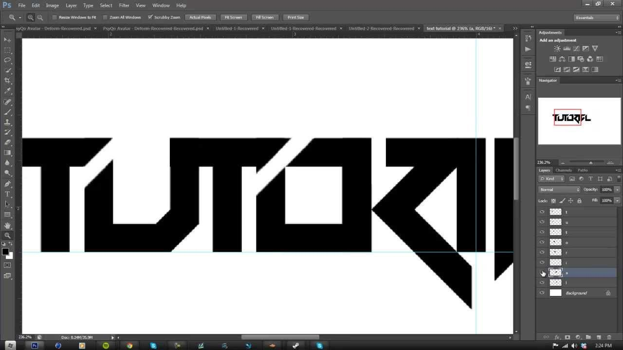 Tutorial Making A Text Logo In Part 1