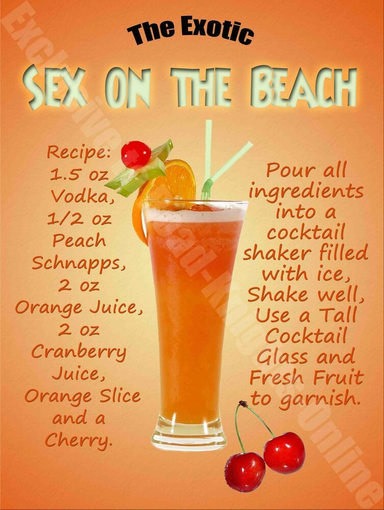 Sex On The Beach Cocktail Recipe, Cafe Pub Hotel, Wine Bar, Small Metal Tin Sign