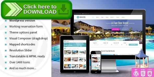 Free Nulled Starhotel  Hotel Wordpress Theme Download  Wordpress