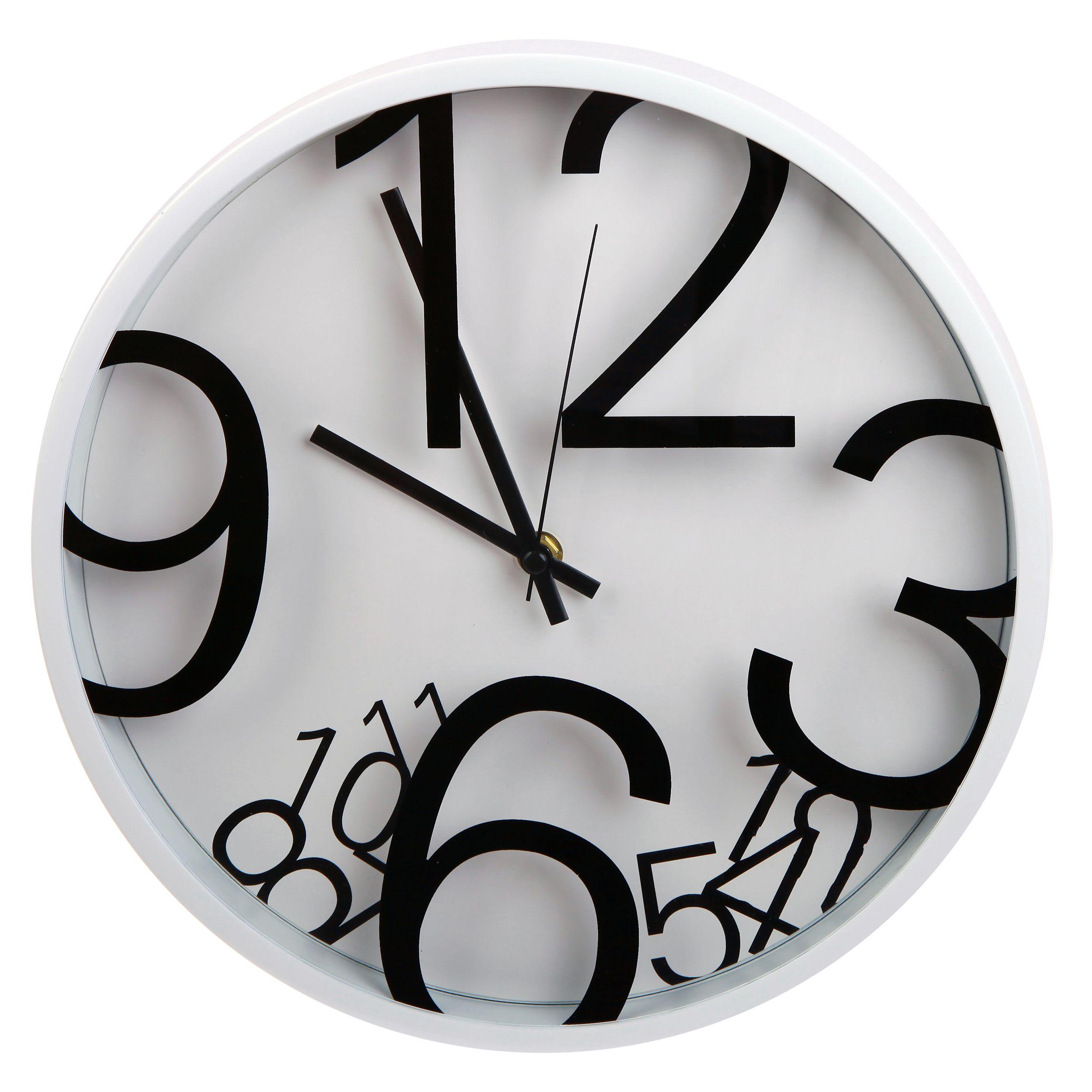 Lgi quartz wall clock modern contemporary wall clock white lgi quartz wall clock modern contemporary wall clock amipublicfo Images