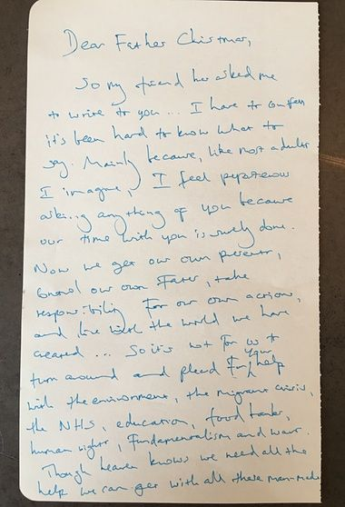 Benedict cumberbatch heads celebrity list writing letters to father letters live 2015 msm benedict cumberbatchs handwritten letter to father christmas spiritdancerdesigns Gallery