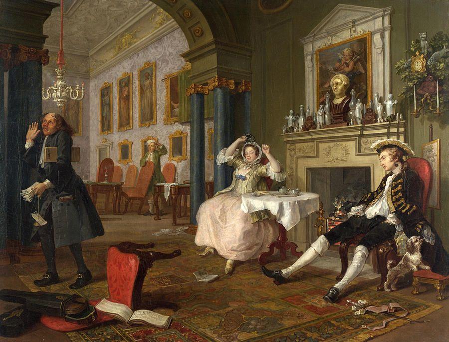 Marriage A La Mode The Tete A Tete By William Hogarth William