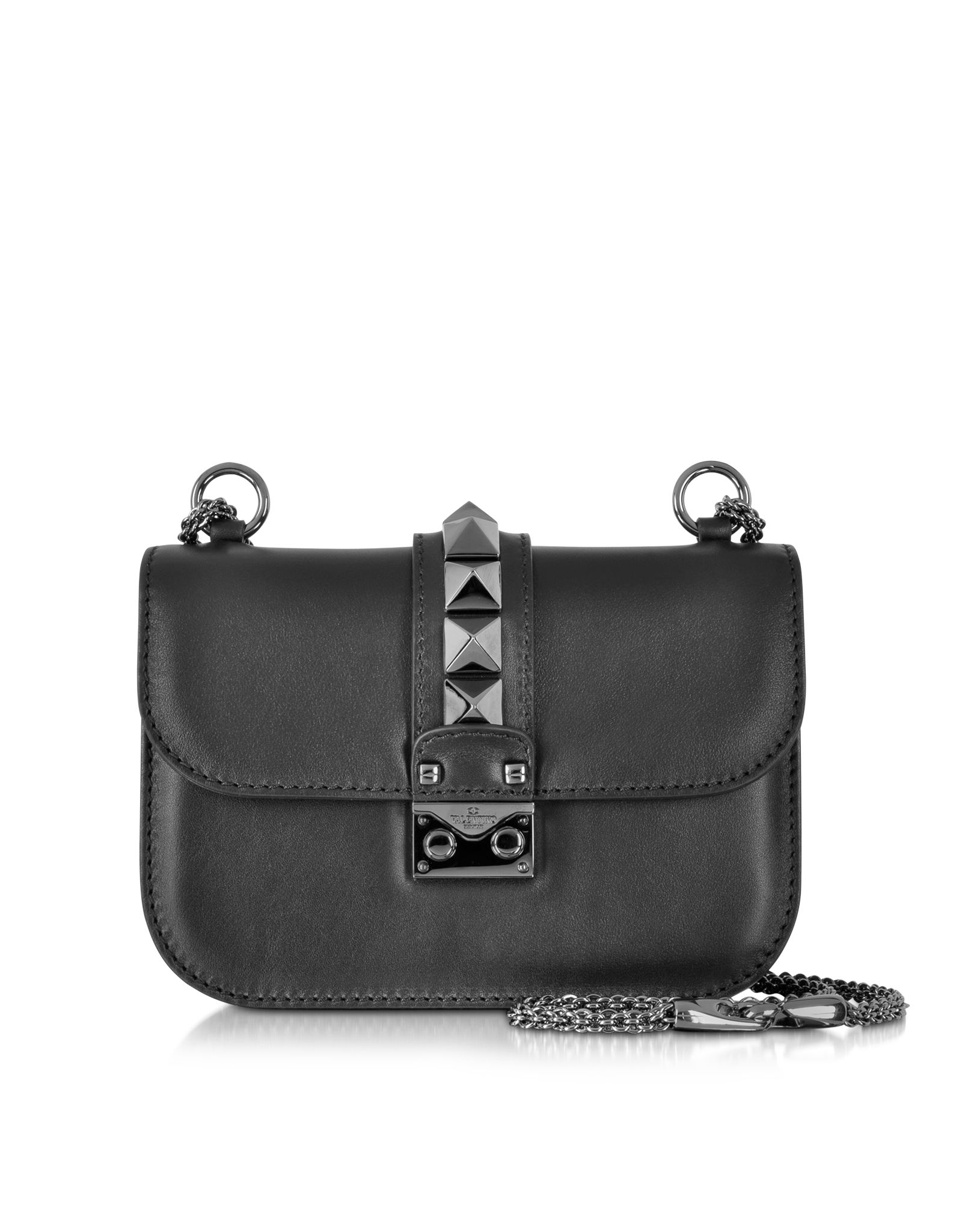 3bc76ac50ce4 Valentino Noir Small Chain Shoulder Bag at FORZIERI