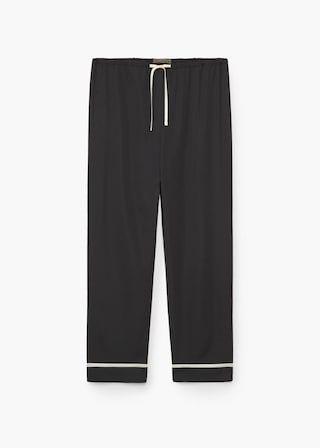 Pantalón ribetes contraste | MANGO