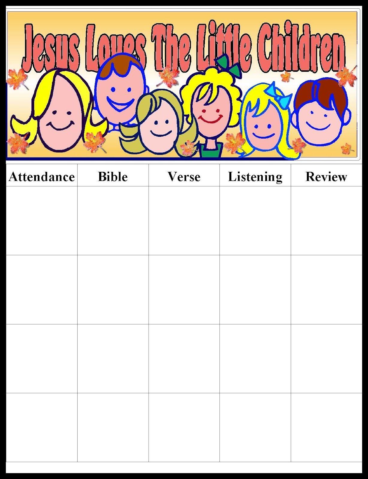 graphic regarding Sunday School Attendance Chart Free Printable known as Pin via Mara Rivera upon Sunday university Plans Sunday faculty