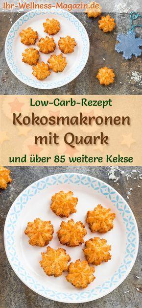 Low Carb Kokosmakronen mit Quark - einfaches Plätzchen-Rezept für Weihnachtskekse #kuchenkekse