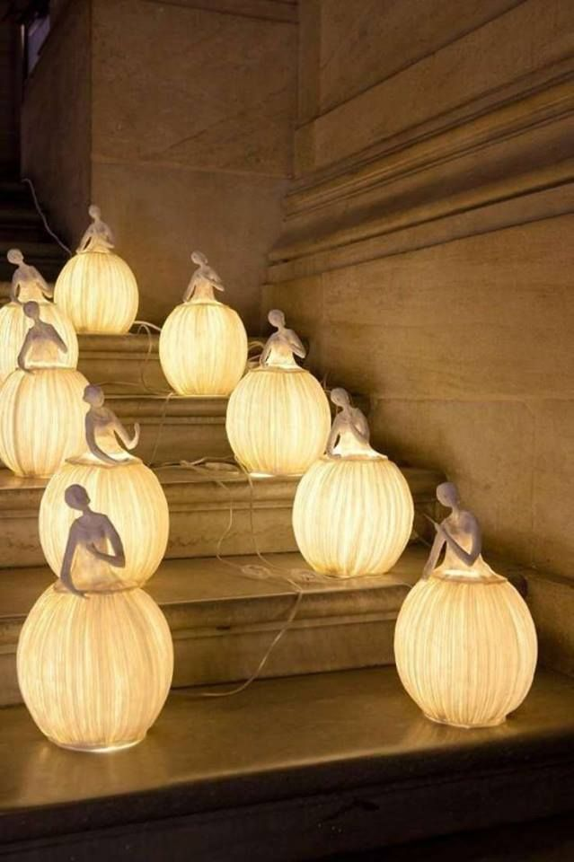 Paper Mache Lamps I Am Mesmerized By These Lamps They Are Extraordinary These Creative Beautiful Ladies In Gra Paper Mache Sculpture Paper Sculpture Lamp